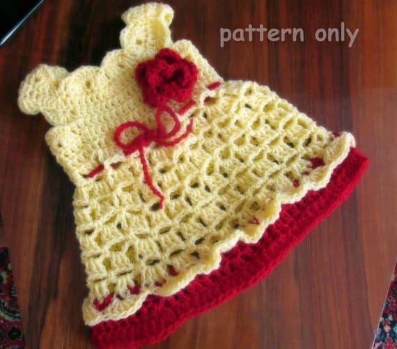 Crochet Baby Frock Pattern : Baby Dress Crochet Pattern Baby Frock Pattern Baby Clothes
