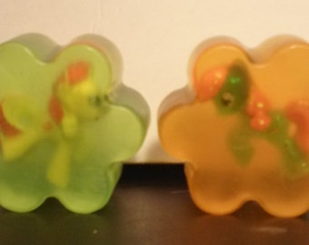 My Little Pony Organic Glycerin Soap with Viewable Figure Inside Set of 2