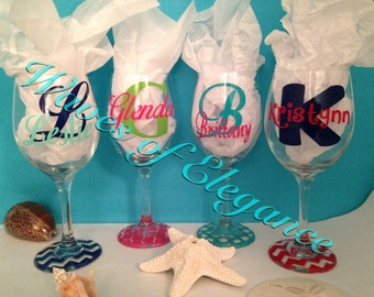 Custom Monogram Name Wine Glass 20 oz