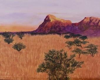 Peloncillo Mountain Sunrise - by Paula Carmichel