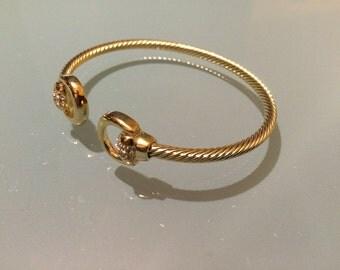 New Gold Chrome Swarovski Crystals Bracelets Birthday Gift Valentine's Day Christmas Anniversary
