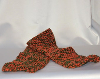 University of Miami Inspired Junior Size Knitted Scarf
