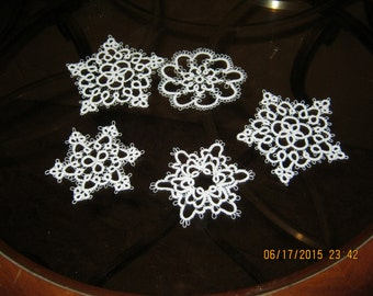 Tatted Snowflake collection