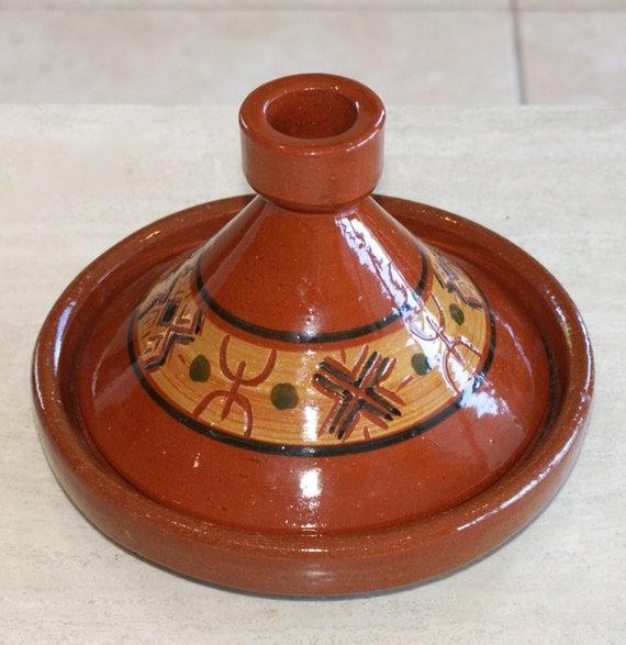 kleine marokkanische keramik tajine topf handgefertigt und. Black Bedroom Furniture Sets. Home Design Ideas