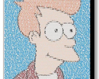 Futurama Philip J Fry Quotes Mosaic Framed 9X11 Limited Edition Art Print with COA
