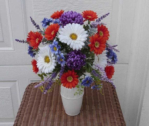 Summer sale vase silk floral centerpiece by
