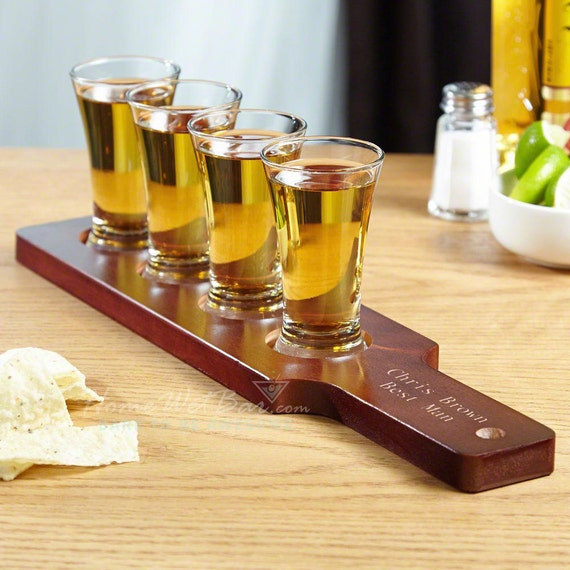 Personalized Tequila Shot Flight Set