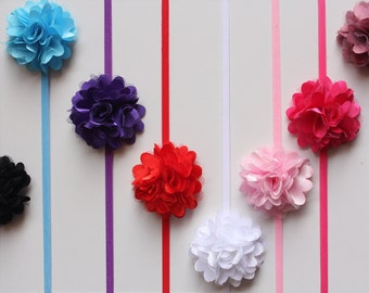 Newborn Baby Headband Girl Mini Mesh Flower Skinny Hair Band Photo Prop Free Postage