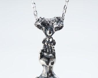小手神様 TEGAMI small ver.  Handmade silver necklace top
