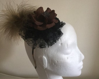 Feather fascinator.