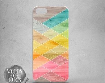 iPhone5s Case, Geometric iPhone 5s Case, Wood Print iPhone 5s Case, colorful iPhone 5s Cover, summer trend