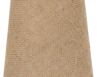 Upgradelights® 4 Inch Euro Barrel Chandelier Lamp Shade in Natural Burlap