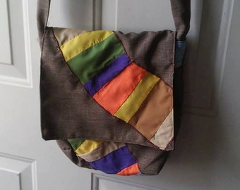 Fourth Doctor Scarf Doctor Who Geek Cross Body Bag Messenger Bag Purse