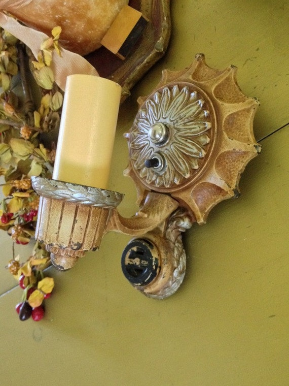 Markel Web Wall Sconce Art Deco Rare by AntiqueLightFixtures