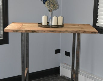 Exceptional Reclaimed Wood Pub Table