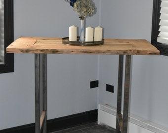 Reclaimed Wood Pub Table
