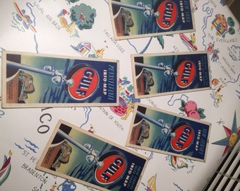 Vintage Gulf Travel Road Maps from the 1940's & 1950's