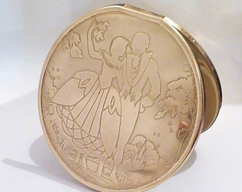 Very rare vintage compacts Easterling 1940s compact mirrors romantic gifts for her