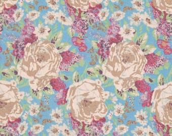 Amelies Attic Edgars Bouquet Free Spirit Floral  Cotton Print Quilt Fabric