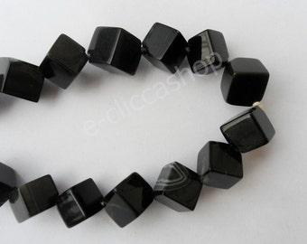 Cube 12 mm Onyx stones about 2pcs