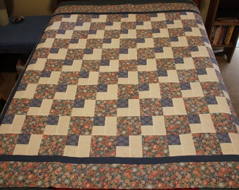 Country Blue Floral Quilt