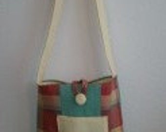 Medium Plaid Upcycled Tote/Purse