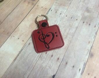 Musical Clef Key Chain