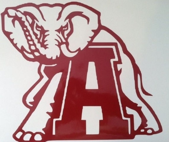 Car or truck decal alabama crimson tide football by for Alabama football mural