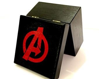 Avengers Peg Doll Wood Toy Box