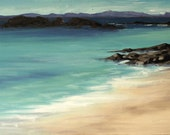 Iona Blue mounted print of an original oil painting by Tracy Butler