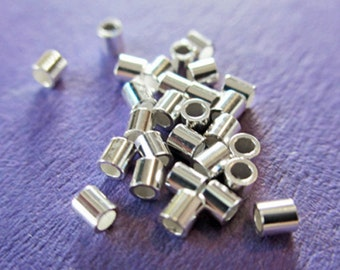 New 2mm 925 Sterling Silver Crimp Tube 100pcs