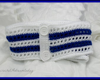 womens crochet 2way scarf