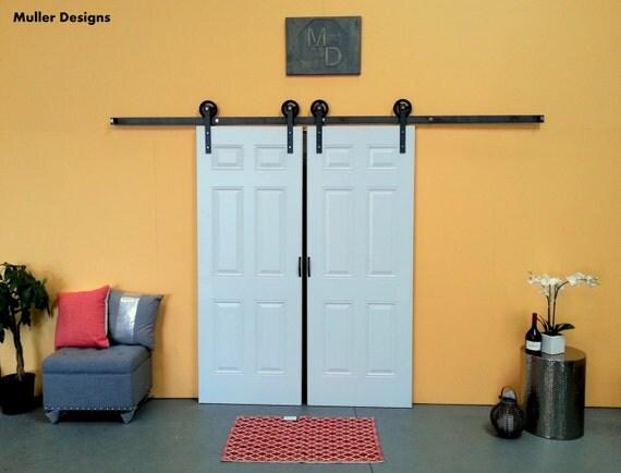 quincaillerie de placard de porte de grange par. Black Bedroom Furniture Sets. Home Design Ideas