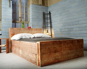 Handmade bed from reclaimed wood SALERNES