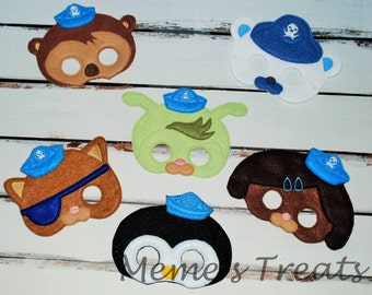 Deluxe Felt Mask -- Kids Mask – Inspired by Octonauts -- Costume – Dress-Up -- Halloween -- Pretend Play -- Party Favor – MMTM0018