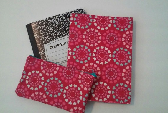 How To Make A Reusable Book Cover ~ Reusable composition book cover and pencil by