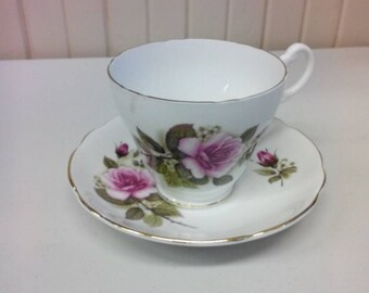 Royal Ascot bone china teacup and saucer