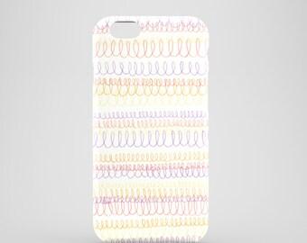 Doodle phone case / loop doodle iPhone 7 case / hand drawn iPhone 6S case / iPhone 6 / iPhone 5/5S, Se / Samsung Galaxy