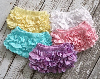 Cotton BabBloomers Baby Bloomers, Ruffle Baby Bloomer, Diaper Covers, Baby Photography Props!