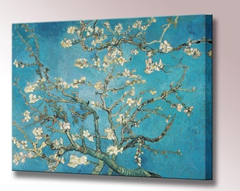 Almond Blossom Canvas Print Van Gogh Framed Wall Art Picture Ready To Hang