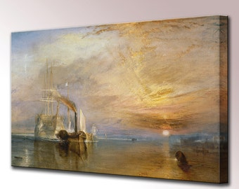 The Fighting Temeraire Turner Canvas Wall Art Print Picture Ready To Hang Decor