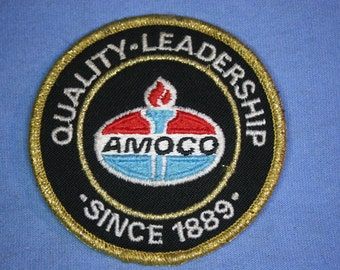 Vintage Gas Station Employee Patch,Amoco,Quality Leadersip,Embroidered,Used,sl11