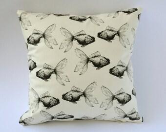 Handmade Cushion Cover  36cm Statement Fish Print