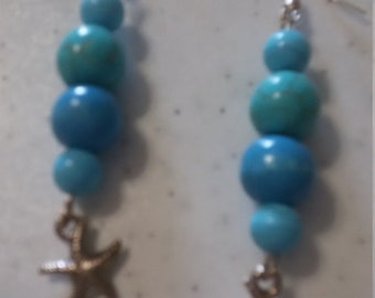 Earrings turquoise with starlet
