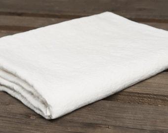Eco Linen Bed Sheet, Linen Bedding, Linen Flat Sheet, Natural Linen Bed Sheet, Organic White Linen Sheet