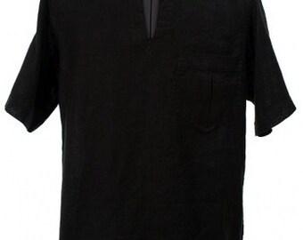 Natural linen men's shirt, Black Linen Men's Shirt, Linen clothing, Linen clothes, Organic Linen Shirt, Men Gift