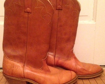 Vintage ACME Dingo Cowboy Western Boots