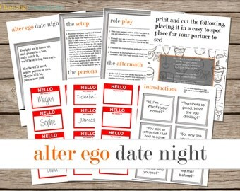 Alter Ego Date Night Printable - Instant Download