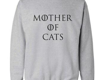 Mother of cats sweatshirt or hoodie hipster tumblr instagram weheartit geek nerd parody dragons joke funny pun kitty pet animal pullover 87