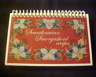 Scandinavian Smorgasbord Recipes Cookbook Denmark Finland Iceland Norway Sweden Vintage 1991